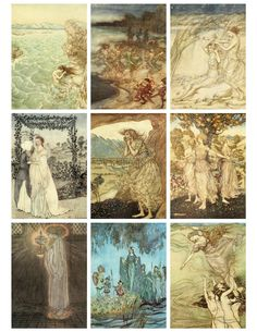 Stunning fairy and mermaid illustrations from turn of the century story books by George MacDonald (I believe). Aren't these just gorgeous?...