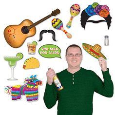 Fiesta Photo Prop Signs are packaged wholesale in a pack of 156 pieces.