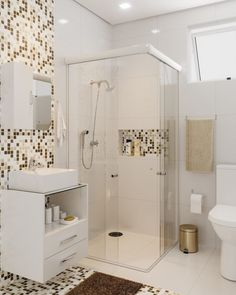 Easy Shower Remodel Diy and Small Shower Remodel Marble. Bathroom Interior, Modern Bathroom, Small Bathroom, Small Shower Remodel, Fiberglass Shower, Small Showers, Sweet Home, Decoration, House