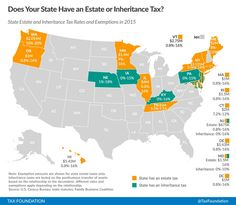 No state estate tax in NC or SC. State Estate and Inheritance Tax Rates and Exemptions 2015 - Skloff Financial Group