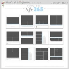 9607 - Every{day} Life 365 PAGES - 12x12 - JAN-DEC - $90.00 : Weeds & Wildflowers Design, Digital Scrapbook Supplies