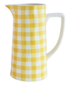 Yellow Gingham Pitcher