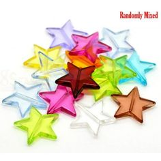Wholesale Transparent Acrylic Beads Pentagram Star At Random About X Hole: Approx 100 PCs from China Supplier Acrylic Beads, Jewelry Making, Stars, China, Box, Flowers, Snare Drum, Sterne, Jewellery Making