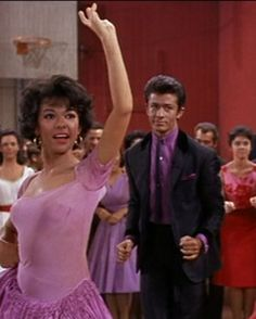 "Rita Moreno and George Chakiris in ""West Side Story"" (1961)  Rita Moreno - Best Supporting Actress Oscar 1961"