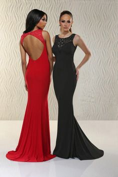 Xcite Prom - Scoop Neckline Bare Back Slim Gown 30530