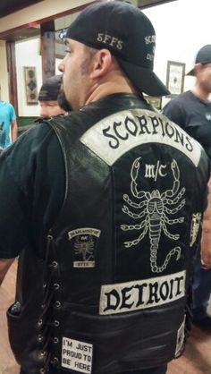 100%ER SFFS Biker Clubs, Motorcycle Clubs, Biker Gangs, Outlaws Motorcycle Club, Scorpion, Rockers, Cut And Color, 3 Piece, Detroit
