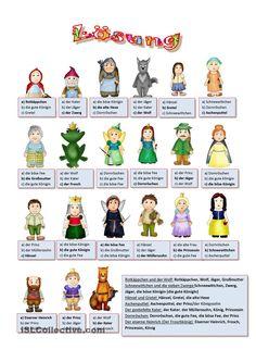 Fairy Tale Characters Grimms Märchen 1. Arbeitsblatt - Kostenlose ...