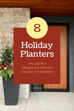 """See how expert container designers from across the country use the 36"""" Sonata planter to create different holiday decorating ideas! #holidaydecorating #holidayplanters #winterplanters #frontdoordecor #Christmas Holiday Decorating, Decorating Ideas, Different Holidays, Recycled Rubber, Front Door Decor, Holiday Traditions, Timeless Design, Christmas Cards, Recycling"""