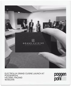Electrolux Grand Cuisine launch at Poggenpohl