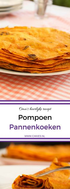I love Pumpkin Pancakes! My grandma makes the best. And this is her awesome recipe for thin pumpkin pancakes. A delicious fall recipe that' Dessert Cake Recipes, Köstliche Desserts, Delicious Desserts, Yummy Food, Healthy Food, Pumpkin Recipes, Fall Recipes, Tefal Snack Collection, Pumpkin Pancakes Easy