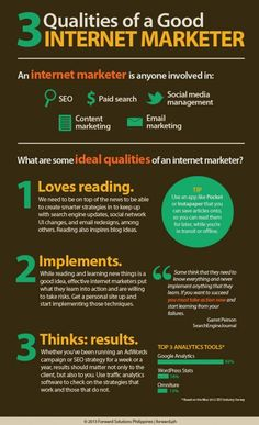 3 Qualities of a Good Internet Marketer #Infographic #seo #seoservicescompanies.in