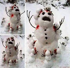 Cười không nhặt nổi miệng với 15 thảm họa người tuyết xấu không tả nổi   Với những kẻ thích đùa thì việc nặn một chú người tuyết đáng yêu và dễ thương gần như là điều không thể.  14. Đây chính là tôi khi bị binh đoàn người yêu cũ đến úp sọt.  Tuy không mấy phổ biến tại các nước nhiệt đới nhưng nặn người tuyết mỗi độ đông về lại là thói quen không thể thiếu với dân phương Tây. Thế nhưng thay vì nặn một chú người tuyết đáng yêu mũm mĩm đặt trước cửa nhà thì nhiều nhân vật tinh quái lại chỉ…
