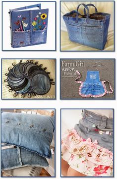 Let It Shine: 36 Fun Projects from Denim Jeans! #denim #jeans #diy #crafts #projects