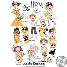 Bee Happy! 1 Embroidery Design Collection   CD