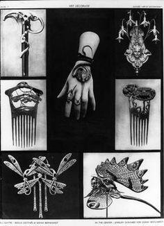 Art Nouveau Jewelry Custom Made for Sarah Bernhardt
