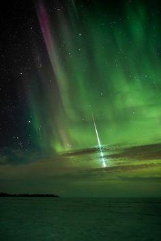 Belle di notte 2013,  le migliori foto del cielo stellato. Stella cadente