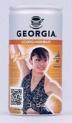 オリンピック特別記念缶だそうで、キャッチコピーは「この冬はジョージアの「GEORGIAN(ジョージアン)応援缶」を片手に、トリノオリンピックを応援しよう!」