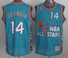 separation shoes bfb90 5c237 Mitchell And Ness Cavaliers  14 Terrell Brandon Light Blue 1996 All Star  Stitched NBA Jersey