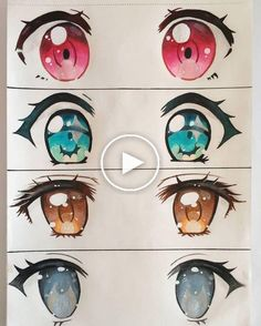 Kawaii Anime Eyes by on DeviantArt Art Drawings Sketches, Cute Drawings, Anime Girl Drawings, Kawaii Drawings, Poses Anime, Pelo Anime, Manga Eyes, Arte Sketchbook, Art Reference Poses