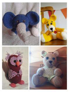 Různé háčkované hračky bezpečné pro děti na objednání Dinosaur Stuffed Animal, Teddy Bear, Toys, Animals, Activity Toys, Animales, Animaux, Clearance Toys, Teddy Bears