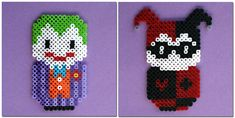Batman Villians The Joker and Harley Quinn perler beads by ThePlayfulPerler on deviantart