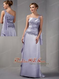 Customize Column Mother Of The Bride Dress One Shoulder Appliques Brush Train Taffeta- $142.21http://www.fashionos.com  http://www.facebook.com/quinceaneradress.fashionos.us  Romantic gowns with lots of feminine charm are timeless. They are classic favorites that every girl loves. It is made from taffeta and features one-shoulder bodice with a gorgeous appliques overlay and pleats. The floor-length skirt has a beautiful shape.