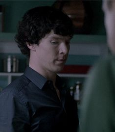 "Sherlock's ""I'm going to deduce the hell out of  you"" stare."