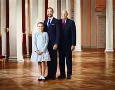 royalwatcher: The Norwegian Royal Court released new photos of the Royal Family, Generations: Princess Ingrid Alexandra, Crown Prince Haakon, and King Harald