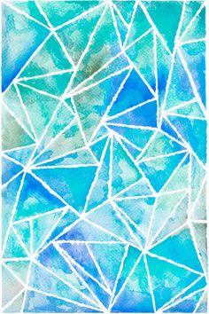 Abstract digital phone or tablet wallpaper, hand made watercolor artwork by snailfunart on Etsy