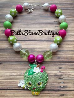 A personal favorite from my Etsy shop https://www.etsy.com/listing/466522172/shopkins-necklace-apple-berry-mini