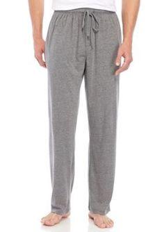 Saddlebred Men's Big And Tall Saddlebred Solid Knit Sleep Pants - Gray Heather - 2Xlt
