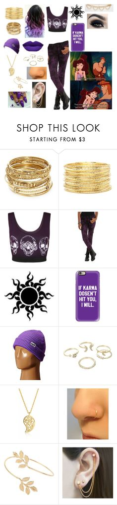 """Meg from Hercules"" by crmsonred13 ❤ liked on Polyvore featuring ABS by Allen Schwartz, Forever 21, NYX, WearAll, Casetify, Neff, Lipsy, Sonal Bhaskaran, Miss Selfridge and Embers Gemstone Jewellery"