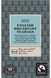 Marks & Spencer English Breakfast Tea (50 Tea Bags)  For their version of English Breakfast, Marks & Spencer blends some of the world's best tea leaves.  A brisk bright flavored tea, this is the perfect way to start your day.