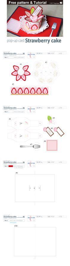 Make a Birthday Cake Pop up Card (Robert Sabuda Method) Cards - birthday cake card template