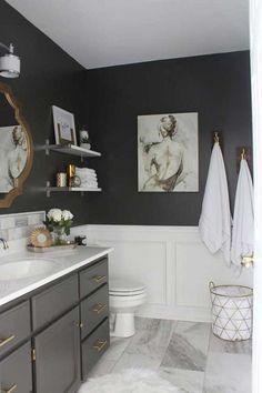 Você nunca mais subestimará o poder de uma boa tinta depois de aplicá-la aos armários ou às paredes do seu banheiro.
