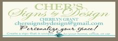 Cher's Signs by Design- many cute vinyl ideas