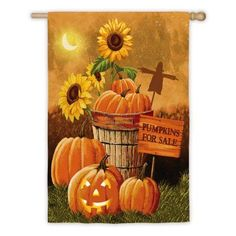 Evergreen Flag Pumpkin Patch for Sale House Flag - 13S3100FB