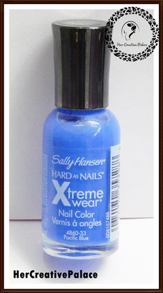 If you are a nail polish junkie like me, then there is a perfect blue shade for you. Sally Hansen Hard as Nails Xtreme Wear Nail Color 'Pacific Blue' reviewed on my blog. Read here: http://www.hercreativepalace.com/2017/09/sally-hansen-nail-color-pacific-blue-review.html  #hercreativepalace #nailpolish #SallyHansen #PacificBlue #nails #review #swatch #NOTD #newblogpost #beauty #makeup #nailsmakeup #blogger #Delhi #India #KanikaSharma #hcpkanika