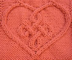 Knitting Heart Stitch Pattern : 1000+ images about Heart knit stitch patterns on Pinterest Heart patterns, ...