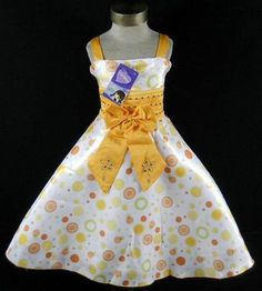 Love this style for her Easter Dress with the polka-dot fabric