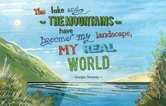 Georges Simenon Quote ~ Haydn Symons Illustration #art #illustration