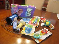 diaper wreath supplies