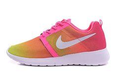 purchase cheap da2c9 6f336 Nike Roshe One Flight Weight Gs Schoenen, Nike Roshe One Flight Weight Dam  Fluorescerande Light Rosa Gul Rosa Vit