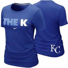 Nike Kansas City Royals Ladies The K Local Premium T-Shirt - Royal Blue