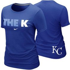 Nike Kansas City Royals Ladies The K Local Premium T-Shirt - Royal Blue