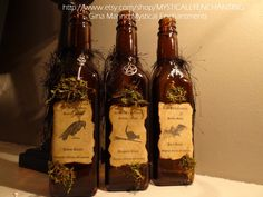 WITCH, SPELLS, WITCH POTIONS, POTIONS, PRIMITIVE HALLOWEEN, Primitive Style Halloween Witch SPELL by MYSTICALLYENCHANTING, $24.99