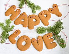 Adorable gingerbread garland - a beautiful addition to a children's Christmas tree or to adorn a mantle!