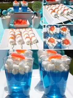 like the idea of the jelly cups - could do with a choc plane on top for flying-themed party