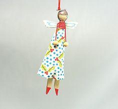 Vintage Peg Dolls Christmas Tree Decorations By Gisela Graham