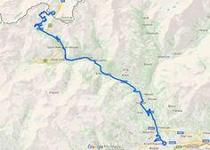 Gran San Bernardo in moto in Valle d'Aosta - Mappa del tour